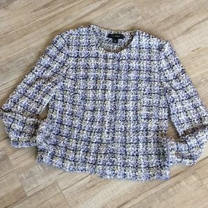 St. John Ribbon Knit Tweed Blazer Sz 10